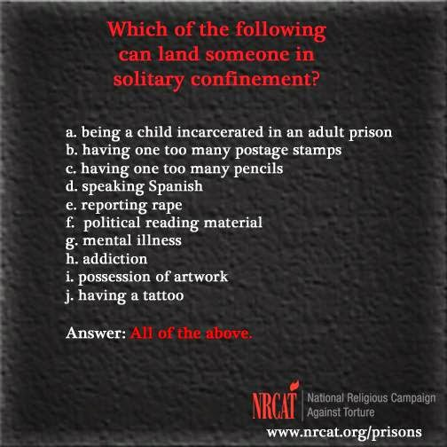 solitary confinement NRCAT