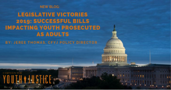 Legislative Victories 2019:  Successful Bills Impacting Youth Prosecuted as Adults