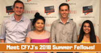 Meet CFYJ's 2018 Summer Fellows!