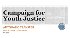 National Trends in Reducing Transfers of Youth to Adult Court Webinar Recording (May, 2020)